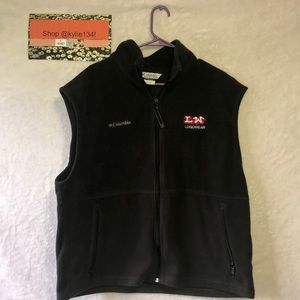 "Men's Black Columbia Vest ""LogoWear"""